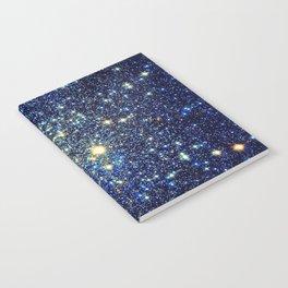 galaxY Stars : Midnight Blue & Gold Notebook