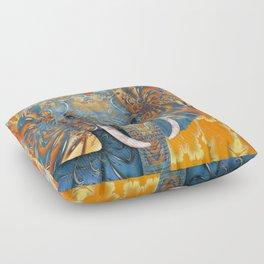 The Happy Blue Elephant Floor Pillow