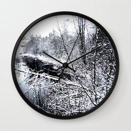 River Frozen Wall Clock