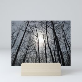 White Sky, Black Trees Mini Art Print