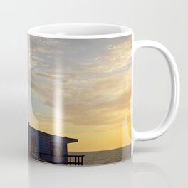 Sunset beyond the Tackle Shack Coffee Mug
