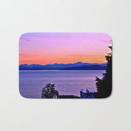 West Seattle sunset Bath Mat