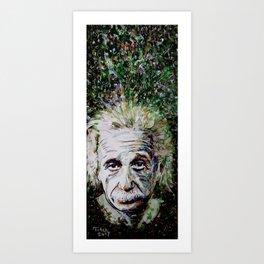 Albert Einstein - brainstorm Art Print
