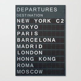 Air-destinations print Canvas Print