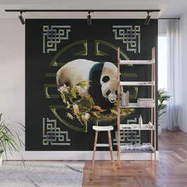 Panda in the circle of protection. Wall Mural