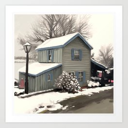 CC Snow Art Print