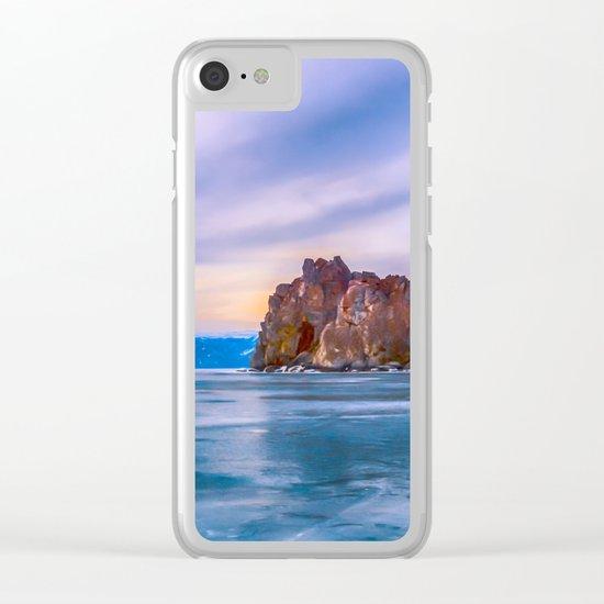 Shaman Rock, lake Baikal Clear iPhone Case