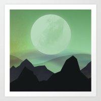 Hazy Mountains Art Print