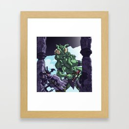 Into the Lair of The Baleful Ones... Framed Art Print