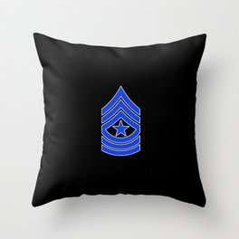 Sergeant Major (Police) Throw Pillow