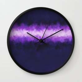 Dark Blue Grape Abstract Wall Clock