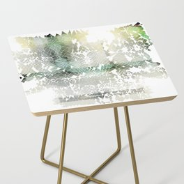 Fractured Silver Side Table