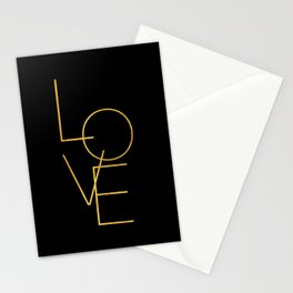 LOVE / black and gold Stationery Cards