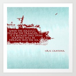 -Eric Cantona Art Print