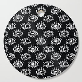 Eye of wisdom pattern - Black & White - Mix & Match with Simplicity of Life Cutting Board