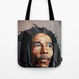 Low poly portrait Tote Bag