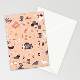 Bad cats Stationery Cards