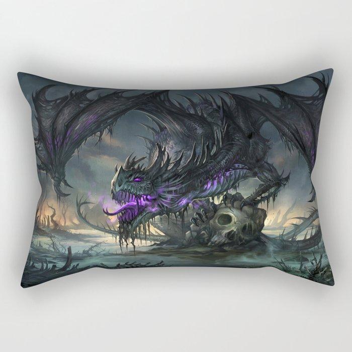 Black Dragon Rectangular Pillow
