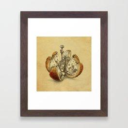 Steampunk Orange (sepia) Framed Art Print