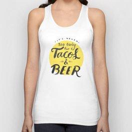 Tacos & Beer Unisex Tank Top