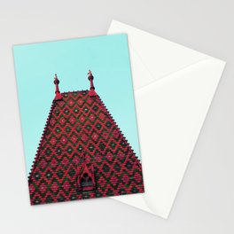magic roof in Budapest (red) Stationery Cards