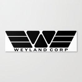 Weyland Corp - Black Canvas Print