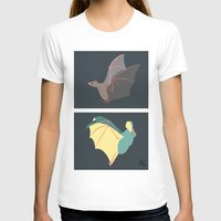 bats T-shirts featuring Bats by Kat Manderfield