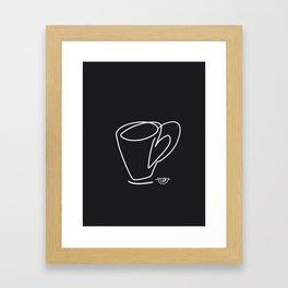 Cuppa Candor [Noir] Framed Art Print