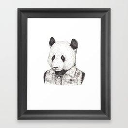 Punk Rock Panda Framed Art Print