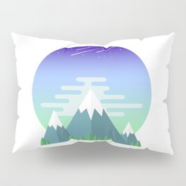 Space Mountains Pillow Sham