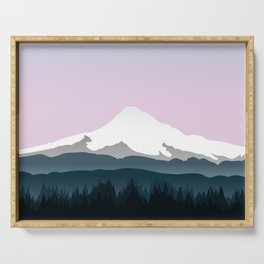 Mount Hood Forest - Pink Haze Serving Tray