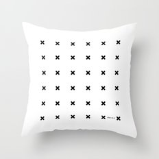 Black X on White Throw Pillow