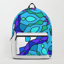 Colored round Arabic mandala Backpack