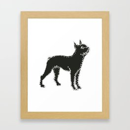 I have Connected the Boston Terrier Doggy Dots! Framed Art Print