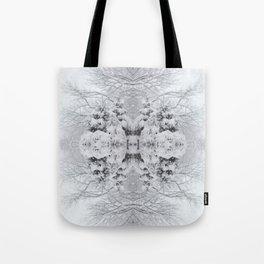 Snow Kaleidoscope | Winter Wonderland Tote Bag