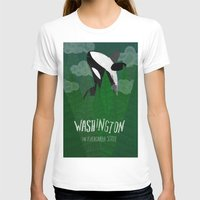 washington T-shirts featuring Washington by Santiago Uceda