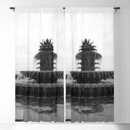Pineapple Fountain Charleston River Park Blackout Curtain