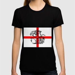 George and the Dragon Patriotic Flag T-shirt
