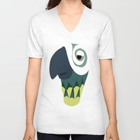 parrot V-neck T-shirts featuring Parrot  by Jessica Slater Design & Illustration