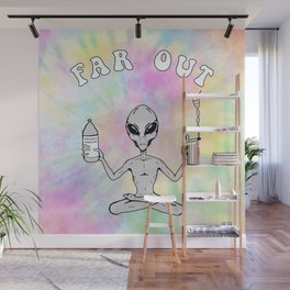 Far Out Alien (Pastel) Wall Mural