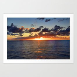 Sunrise at Nouméa Art Print