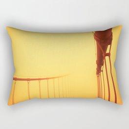 Golden - Golden Gate Bridge Rectangular Pillow