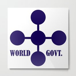 world government Metal Print