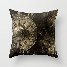 Time for the Train Throw Pillow
