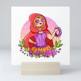 Red Riding Hood, Wolf Whisperer Mini Art Print
