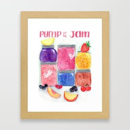 Pump up the jam Framed Art Print