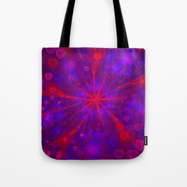 Valentine's Day | Romantic Galaxy | Universe of red, blue, purple hearts Tote Bag