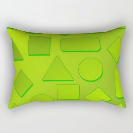 0807 Play with gradient and forms 3 ... Rectangular Pillow