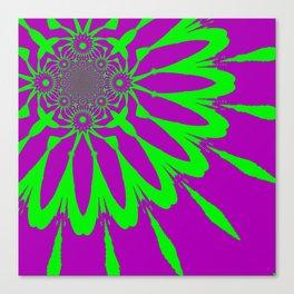 The Modern Flower Purple & Green Canvas Print