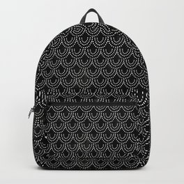 Dotted Scallop in Black Backpack